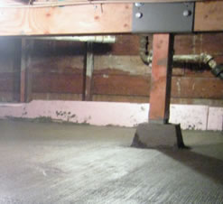 concrete crawl space