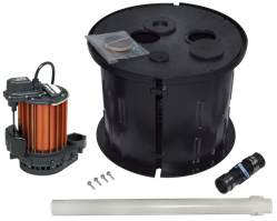 InstaDry™ Sump Kit w/2 Piece Snap Together Basin crawl space sump pump, sump pump for crawl space