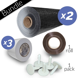 12 Mil DiamondBack™ Product Bundle crawl space liner, crawl space vapor barrier, crawl space plastic, white crawl space liner, crawl space material